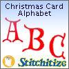 Christmas Card Alphabet - Pack