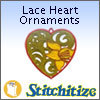 FSL - Lace Heart Ornaments - Pack