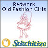Redwork Old Fashion Girls - Pack