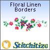 Floral Linen Borders - Pack
