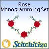 Rose Monogramming Set - Pack