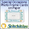 FSL - Special Occasions Photo Frame Cards on Paper - Pack