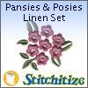 Pansies & Posies Linen Set - Pack