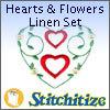 Hearts & Flowers Linen Set - Pack