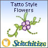 Tattoo Style Flowers - Pack