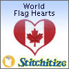 World Flag Hearts - Pack