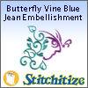 Butterfly Vine Blue Jean Embellishment - Pack